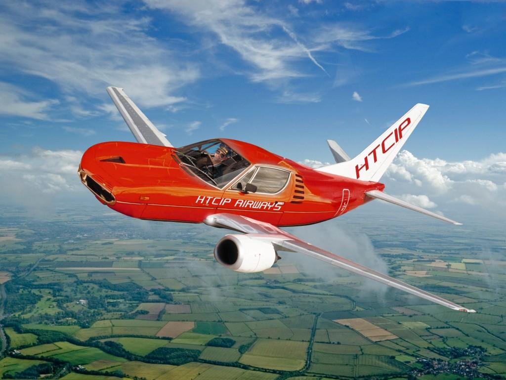HTCIP Airways retracted undercarriage